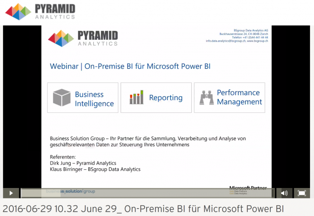 On-Premise BI für Microsoft Power BI on-demand