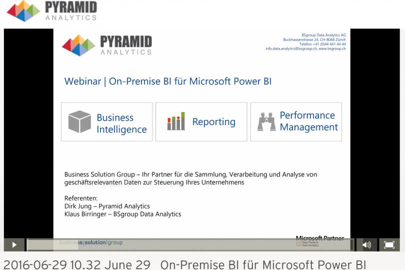 On-Premise BI für Microsoft Power BI on-demand