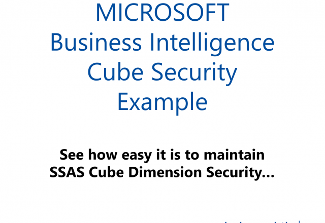 Microsoft SSAS Cube Dimension Security