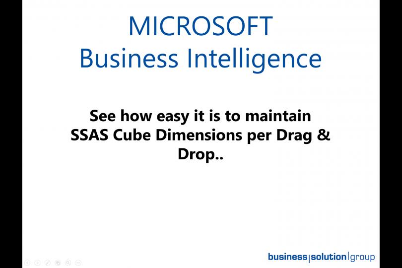 Microsoft SSAS Cube Dimensions per Drag & Drop