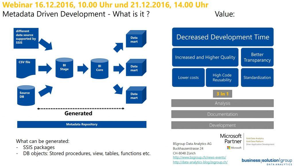 Data Warehouse Modernisierung 2017 – DWH-Entwicklung automatisieren..